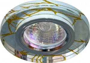 8049-2, светильник потолочный встраиваемый, MR16 G5.3 прозрачный, серебро