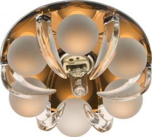 CD2530, светильник потолочный, JCD9 G9 c прозрачным и матовым стеклом, коричневый, с лампой
