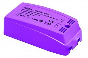 TRA110, трансформатор электронный понижающий, 230V/12V 60W пластик розовый