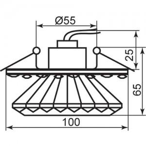 1580, светильник потолочный встраиваемый, JCD9 Max35W G9 прозрачный-желтый