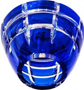 CD2112, светильник потолочный, JCD9 G9 с синим стеклом, с лампой