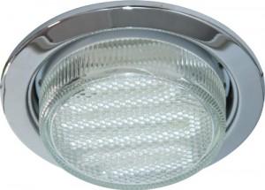 DL53, светильник потолочный встраиваемый с энергосберегающей лампой, 11W 230V  GX53, с лампой, хром