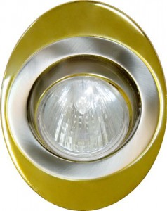 108Т-MR16, светильник потолочный, MR16 G5.3 золото-хром