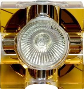 С2024Y, светильник потолочный, MR16 G5.3 с желтым стеклом, хром