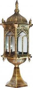 PL115, светильник садово-парковый, 60W 230V E27 черное золото