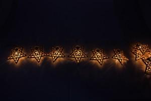 """CL553 Гирлянда светодиодная на батарейках """"Золотые звёзды"""""""