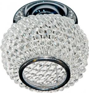 CD2150, светильник потолочный, JC G5.3 с прозрачным стеклом, хром