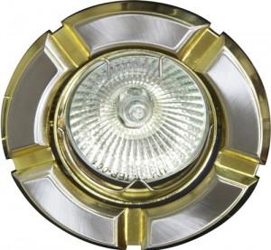 098Т-MR16, светильник потолочный,  титан-золото