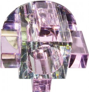 C1037P, светильник потолочный, JCD G9 с розовым стеклом, хром, с лампой