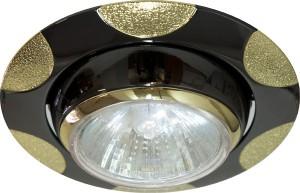 156-MR16, светильник потолочный, MR16 G5.3 черный металлик-золото