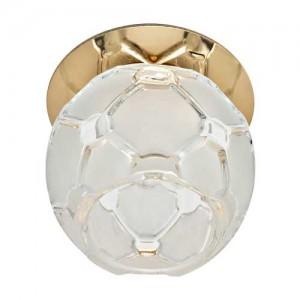JD175, светильник потолочный, JCD9 35W G9 прозрачный-матовый, золото