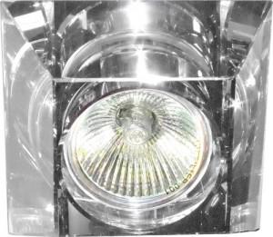 C2019SQ, светильник потолочный, MR16 G5.3 с прозрачным стеклом, хром