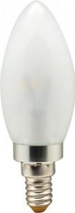 LB-70, лампа светодиодная, 6LED(3.5W) 230V E14 6400K свеча хром матовая
