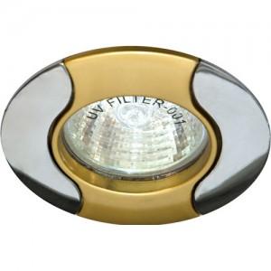 020Т-MR16, светильник потолочный, золото-хром
