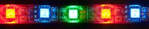LS607, светодиодная лента влагозащищенная, цвет свечения: красный-зеленый-синий, 5m, 14.4W/m