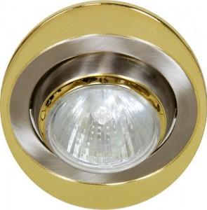 108Т-MR16, светильник потолочный, MR16 G5.3 титан-золото