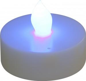 """FL075, светодиодная свеча """"таблетка"""", голубой"""