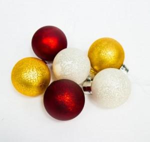 "LT121 Новогоднее украшение на батарейках на ёлку ""Шары"" на лентах"
