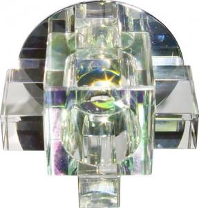C1037A, светильник потолочный, JCD G9 с многоцветным стеклом, хром, с лампой