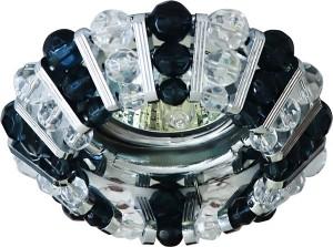 CD2121, светильник потолочный, MR16 G5.3 с прозрачным и  черным стеклом, хром, с лампой