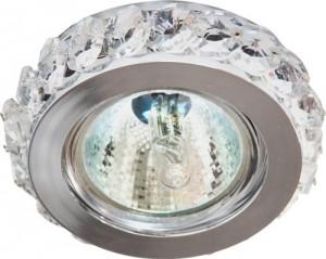 CD2329, светильник потолочный, MR16 G5.3 с прозрачным стеклом, хром с лампой