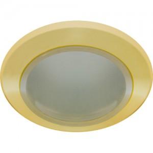 DL202, светильник потолочный, MR16 G5.3 с матовым стеклом, золото
