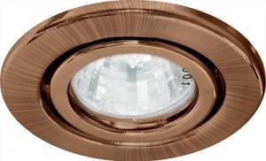 DL11, светильник потолочный встраиваемый, MR16 G5.3 античная медь