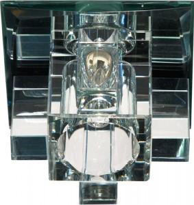 1525, светильник потолочный, JCD G9 с белым стеклом, с лампой