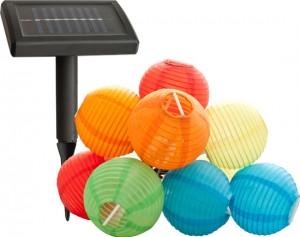 E47, светильник садово-парковый на солнечной батарее, 9 белых светодиодов, гирлянда