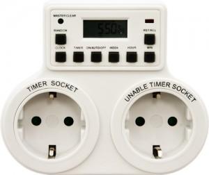 TM25, розетка с таймером (недельная) 3500W/16A 230V