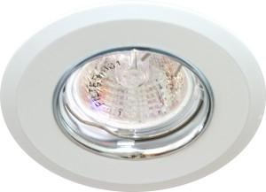 DL107-C, светильник потолочный встраиваемый, MR16  12V G5.3 белый/хром