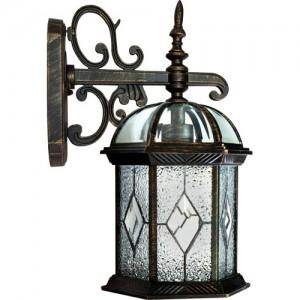 PL131, светильник садово-парковый, 60W 230V E27 черное золото