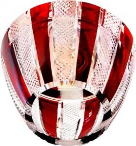 CD2114, светильник потолочный, JCD9 G9 с красным стеклом, с лампой