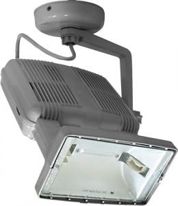 SPO26, прожектор металлогалогенный с пускателем,  150W 230V R7S серый
