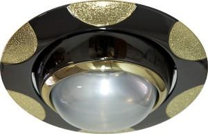 156-R39, светильник потолочный, R39 E14 черный металлик-золото