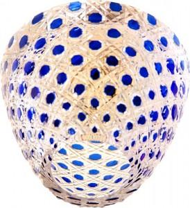 CD2115, светильник потолочный, JCD9 G9 с синим стеклом, с лампой