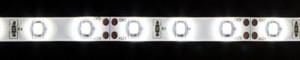LS604, комплект влагозащищенной светодиодной ленты с драйвером 30W, 60SMD(3528)/m 4.8W/m 12V  белый на белом 5 метров