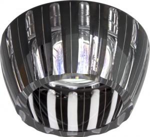 CD2324, светильник потолочный, MR16 G5.3 с черным стеклом, хром с лампой