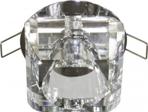 JD135-CL, светильник потолочный, JC 20W G4 прозрачный, хром (с лампой)