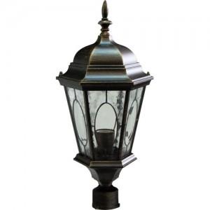 PL152, светильник садово-парковый, 60W 230V E27 черное золото