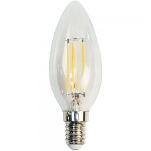 LB-58, 4000К 4LED(5W) 230V E14 филамент свеча, лампа светодиодная