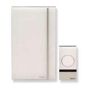 Звонок дверной беспроводной, 3*1.5V/AA (32 мелодии) белый, W-638