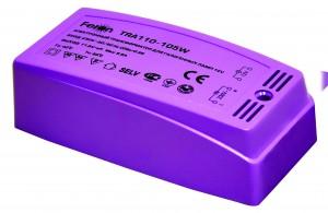 TRA110, трансформатор электронный понижающий, 230V/12V 105W пластик розовый