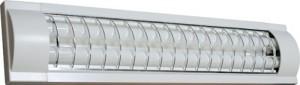 CAB5S/TL3017S, светильник люминесцентный, 2*36W T8 с решеткой, белый