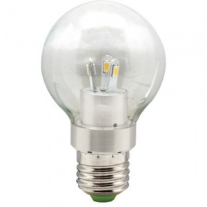 LB-41, лампа светодиодная, 6LED(3,5W) 230V E27 4000K большой шар A55
