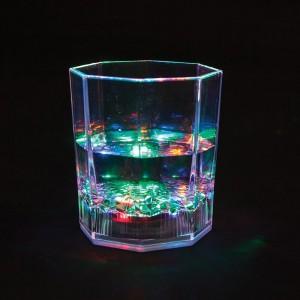 FL105, граненый стакан со светодиодной подсветкой
