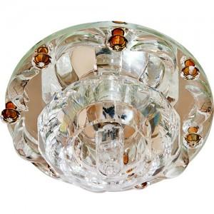 1580, светильник потолочный встраиваемый, JCD9 Max35W G9 прозрачный-коричневый