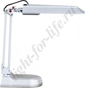 DE1120, светильник настольный, ESТ 11W 230V G23 серебро с лампой