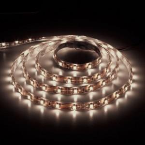 LS604, светодиодная лента влагозащищенная, цвет свечения: теплый белый, 1m, 4.8W/m