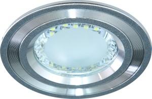 DL4747, светильник встраиваемый, 24LED 2.5W 6500K 105*100мм  серебро